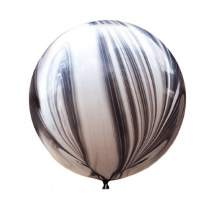 XL Latex balloon with helium – Marble – 80 cm.