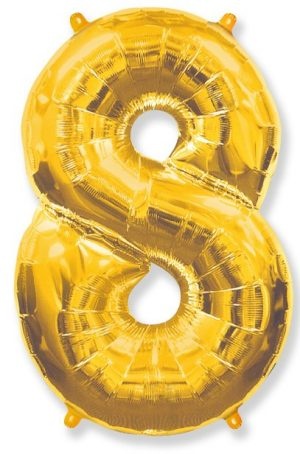 "Foil balloon Number ""8"" – 86 cm / Color selection"