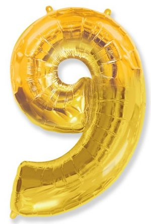 "Foil balloon Number ""9"" – 86 cm / Color selection"