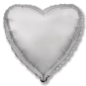 Foil balloon with helium – Heart – Solid color – 46 cm.