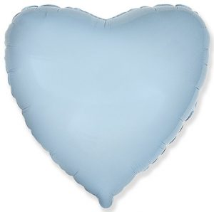Foil balloon with helium – Heart – Solid color – 80 cm.