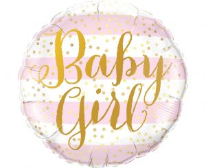 Baby Girl Gold Dots