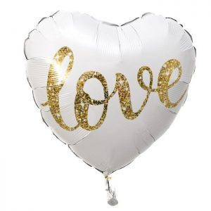 Foil balloon with helium – Heart – Love – 46 cm.