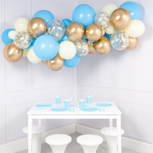 Candybar Clouds Baby Blue, pink, colorful, golden, dark blue, glam