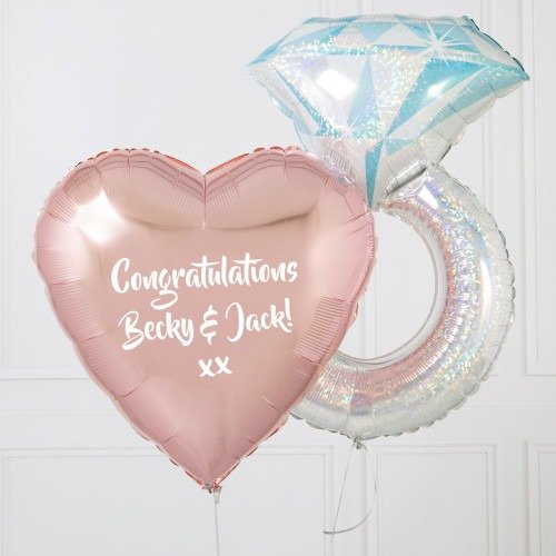 Ring Set Ready Composition Helium balloon | Faraday Helium Balloons in Geneva delivery