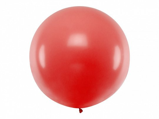 XXL Latex balloon with helium Solid Red 1 m | Faraday Helium Balloons in Geneva