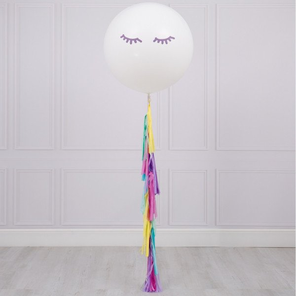 XL Balloon with eyes and tassel | Ballons avec hélium Faraday Genèvel
