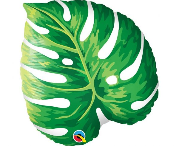 foil balloon in the shape of tropical leaf