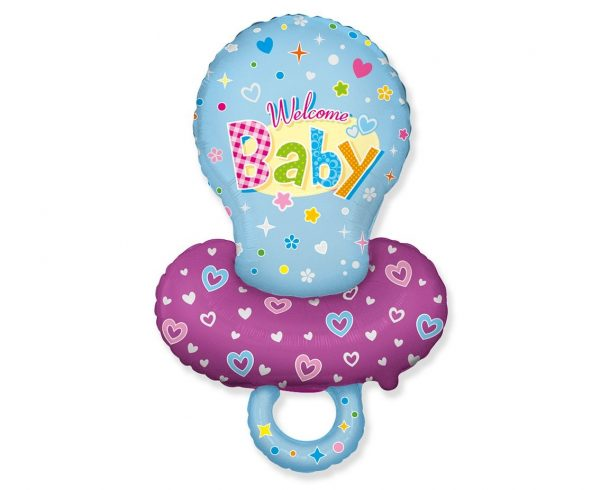 Foil balloon in the shape of Blue Pacifier for Baby Boy