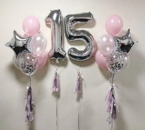 "Balloon set with 2 numbers ""Jacqueline"""
