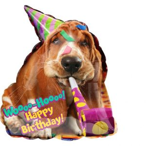 Happy Birthday Dog Helium Balloon