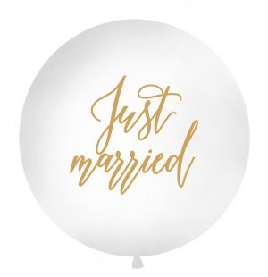 """Just married"" latex balloon"