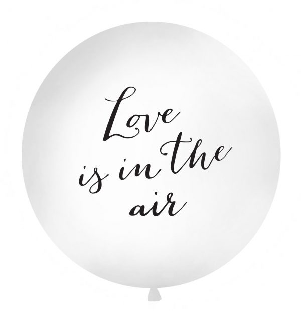 Giant latex balloon with Love is in the air text