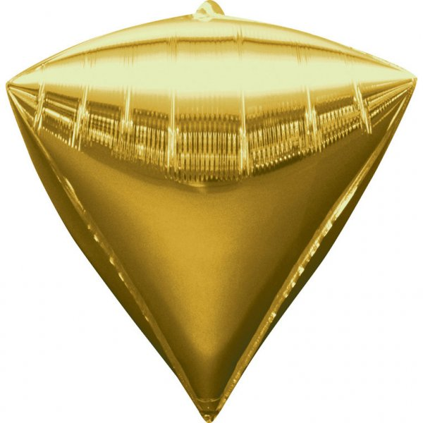 Orbz Gold Diamond shaped foil balloon