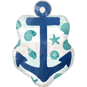 Sailorman's anchor Helium Balloon