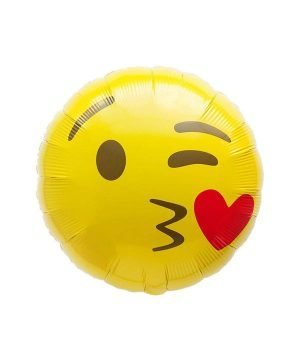 Kiss Emoji Smile Helium Balloon