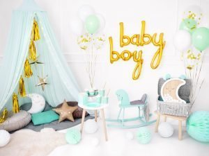 "Air-filled Banner Balloon ""Baby Boy"""