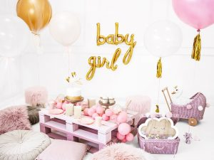 "Air-filled Banner Balloon ""Baby Girl"""