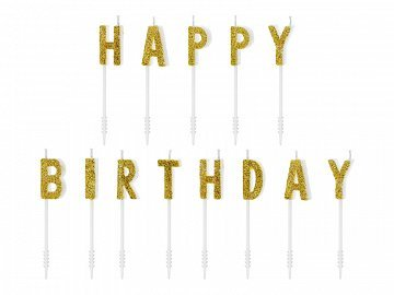 "Candles with letters ""Happy Birthday"" 