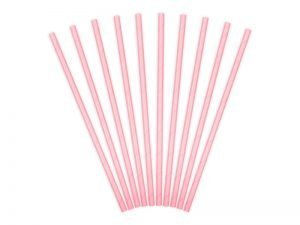 "Cocktail straws ""Pink"" (10 pieces)"