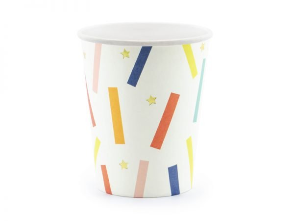 """Cups """"Colorful Birthday"""" for Kid's Birthday Party 