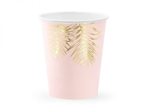 "Cups ""Pink Tropical"" for a Party 