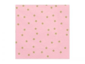 "Napkins ""Stars & Pink"" (20 pieces)"