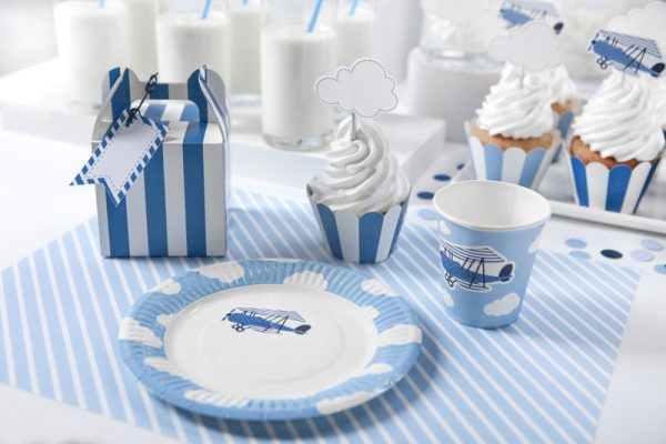 """Party Kit """"Little Plane"""": straws, cups, napkins, plates 