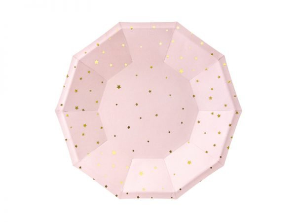 "Plates ""Stars & Pink"" for a Party 