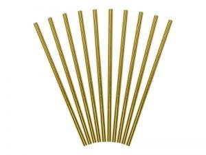 "Straws ""Golden"" (10 pieces)"