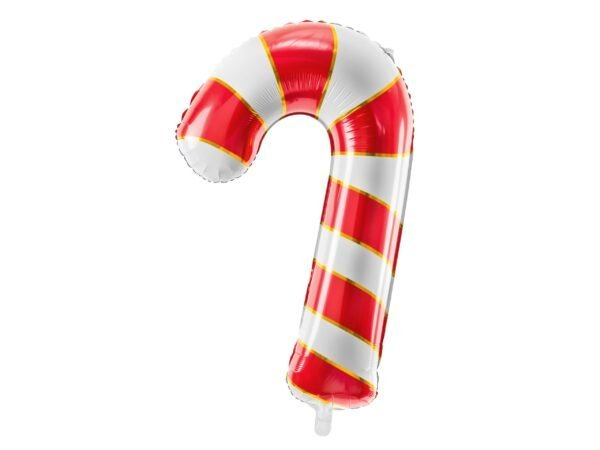 Helium Foil balloon shaped as Christmas Candy Cane 80cm | Faraday Helium Balloons in Geneva