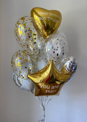 "Balloon set with 2 custom texts ""Karina"""