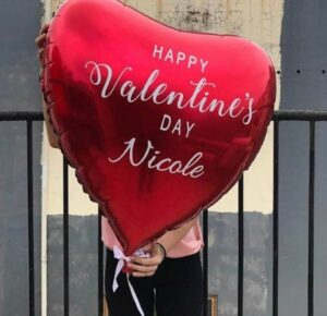 Giant heart with personalized text